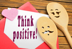 Think positive words Royalty Free Stock Image