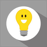Think postive design. Think positive concept and ideas design, vector illustration 10 eps graphic Royalty Free Stock Image