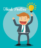 Think postive design. Think positive concept and ideas design, vector illustration 10 eps graphic Royalty Free Stock Photos