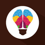 Think postive design. Think positive concept and ideas design, vector illustration 10 eps graphic Royalty Free Stock Photography