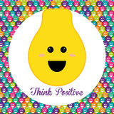 Think postive design Stock Images