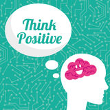 Think postive design. Think positive concept and ideas design, vector illustration 10 eps graphic Stock Photography