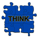 Think puzzle. A puzzle with a think word Royalty Free Stock Images