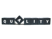 Think quality. The word quality spelled out stock photo