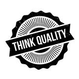 Think Quality rubber stamp Royalty Free Stock Photography