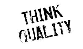 Think Quality rubber stamp Royalty Free Stock Photos