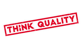 Think Quality rubber stamp Stock Photos