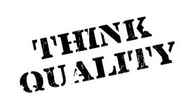 Think Quality rubber stamp Stock Photography
