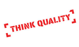 Think Quality rubber stamp Royalty Free Stock Photo