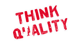 Think Quality rubber stamp Stock Images