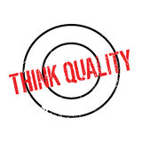 Think Quality rubber stamp Stock Photo