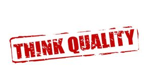 Think quality. Rubber stamps with text think quality inside,  illustration Royalty Free Stock Image