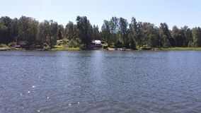 A view we think quite common in summertime, when we are boating in Finland royalty free stock photography