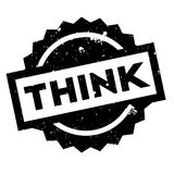 Think rubber stamp Royalty Free Stock Photos