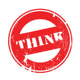 Think rubber stamp Royalty Free Stock Photo