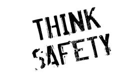 Think Safety rubber stamp Royalty Free Stock Photos