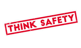 Think Safety rubber stamp Stock Photo