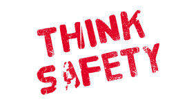 Think Safety rubber stamp Stock Photography
