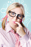 Think smart to solve unanswered questions Stock Photo