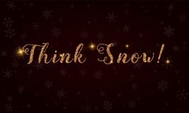 Think snow!. Stock Photography