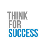 Think for success text sign concept Stock Photography
