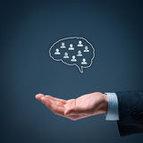 Think tank. Team offer concept. Businessman offer  organization royalty free stock photography