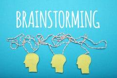 Think team, idea. Business brainstorm, decision. Career chaos, stress stock image