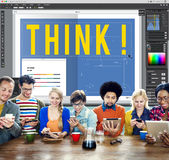 Think Thinking Idea Determination Planning Mind Concept.  Stock Images