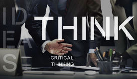 Think Thinking Idea Determination Planning Mind Concept Royalty Free Stock Image