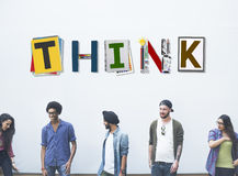 Think Thinking Ideas Skill Start up Concept Royalty Free Stock Photos