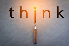 Think Thinking Ideas Skill Start up Concept Royalty Free Stock Image