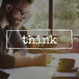 Think Thinking Plan Planning Determination Concept. People Thinking Plan Planning Determination Royalty Free Stock Photos