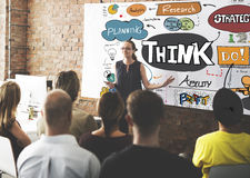 Think Thinking Planning Analyse Ideas Concept Royalty Free Stock Photos