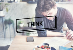 Think Thinking Planning Analyse Ideas Concept Stock Photo