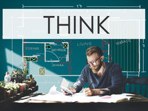 Think Thinking Thoughtful Thoughts Ideas Mind Concept Royalty Free Stock Photos