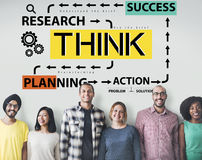 Think Thinkning Plan Planning Emotions Concept Royalty Free Stock Image