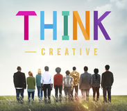 Think Thoughtful Visionary Creative Determination Concept royalty free stock photo