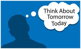Think about tomorrow to day with people, flat design. EPS file available. see more images related vector illustration