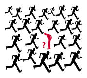 Think Twice. Do not follow the crowd or the common run of mankind Stock Photos