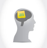 Think twice mind message illustration design Royalty Free Stock Photography