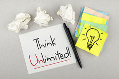Think Unlimited Royalty Free Stock Photo