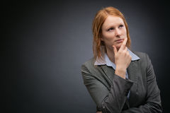 Think Vision - Businesswoman Royalty Free Stock Photography