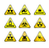 Think warning sign. Think warning sign over a white background Stock Photography