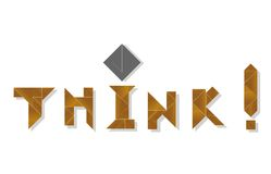 Think - cdr format Stock Photography
