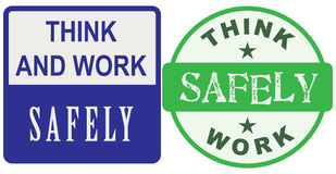 Think and work safely Stock Images