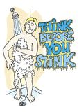 Think before you stink 02 Stock Image