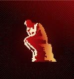 Thinker. Vector thinker on dark red background Royalty Free Stock Photo
