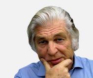 The Thinker. Older man Thinking Stock Image