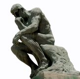 The Thinker. By Auguste Rodin stock photography