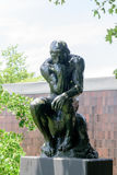 The Thinker of Auguste Rodin in the Norton Simon Museum Stock Photography